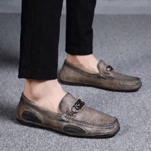 Simier秋款头层休闲豆豆鞋休闲鞋男鞋可加绒X0276
