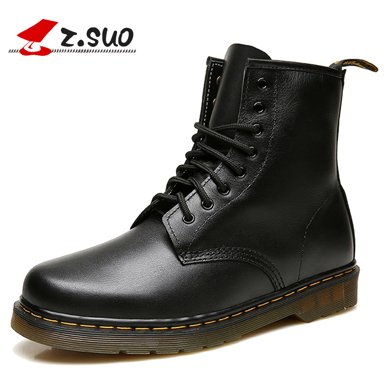 Z.Suo/走索?#34892;?#39532;丁靴女士英伦工装靴潮流军靴男士短靴情侣靴子皮靴 ZS1460