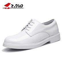 Z.Suo/走索女鞋英伦马丁鞋女士休闲鞋低帮小白鞋潮流皮鞋工装鞋牛津鞋子 ZS18009N