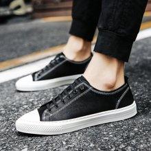 Simier2018款四季头层羊皮板鞋百搭板鞋休闲男鞋X90522