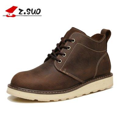 Z.Suo/走索男鞋馬丁靴男女士短靴高幫女鞋子潮流工裝皮靴情侶靴子 ZS18566