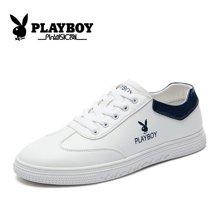 花花公子男鞋板鞋男韩版男鞋学生白色平板鞋秋季潮鞋青年鞋子CX39229