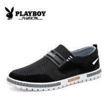花花公子网鞋男夏季休闲鞋韩版网面鞋套脚透气板鞋青年潮鞋子CX39235