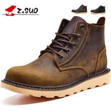 Z.Suo/走索男鞋英倫男士休閑鞋子馬丁靴男復古潮板鞋男高幫耐磨 ZS359