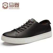 马登男韩版潮流复古板鞋男士休闲鞋皮鞋百搭英伦男鞋春季潮鞋 1612151
