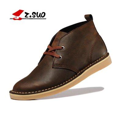 Z.Suo/走索男鞋英倫休閑鞋馬丁靴男復古皮鞋板鞋工裝鞋高幫男鞋 ZS061
