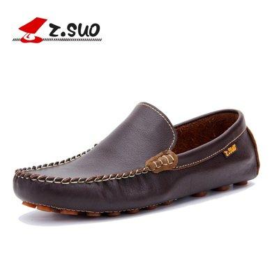Z.Suo/走索男鞋透气豆豆鞋男套脚潮流驾车鞋男英伦低帮休闲鞋男 ZS0318