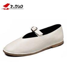 Z.Suo/走索女鞋低幫鞋休閑皮鞋女士休閑鞋簡約小白鞋女潮 ZS18002N