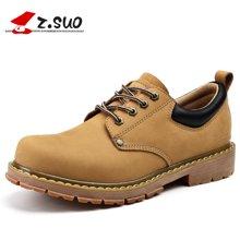 Z.Suo/走索男鞋休闲皮鞋男士休闲鞋潮流低帮鞋英伦工装鞋男 ZS18507