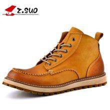 Z.Suo/走索男鞋工装靴男马丁靴男靴子工作靴户外皮靴潮鞋男 ZS16011