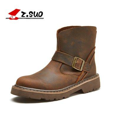 Z.Suo/走索英倫馬丁靴男潮流男靴子休閑鞋情侶鞋短靴 ZS1308