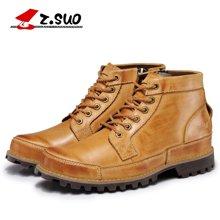 Z.Suo/走索复古男靴英伦马丁靴男皮靴子工装鞋军靴男士短靴潮鞋 ZS608