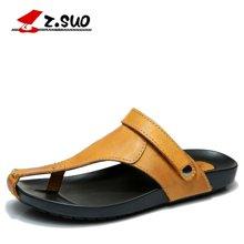 Z.Suo/走索男士夏季凉鞋半拖鞋休闲夹脚沙滩鞋英伦透气凉拖鞋男 ZS1920