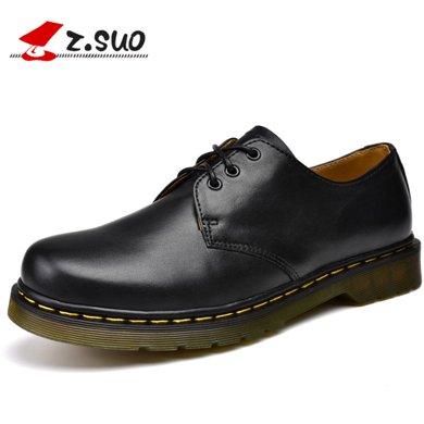 Z.Suo/走索休閑男鞋男低幫鞋男士休閑皮鞋英倫鞋子小白鞋 ZS18018