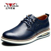 公牛世家潮鞋子男士休闲皮鞋增高气垫运动鞋跑步鞋男 888195
