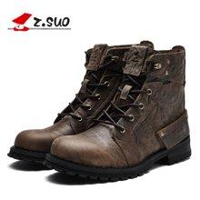 Z.Suo/走索男鞋皮靴子男男士休闲鞋潮流马丁靴男军靴短靴 ZS15168