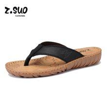 Z.Suo/走索新品女鞋透氣拖鞋女夏季人字拖女士坡跟沙灘鞋涼拖鞋 ZS6618