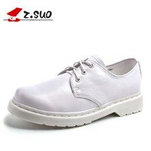 Z.Suo/走索女鞋小白鞋女休閑鞋單鞋低幫鞋子馬丁鞋皮鞋女潮 ZS18018N