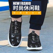 啄木鸟PLOVER 2017新款低帮男士休闲鞋子时尚飞织网布透气舒适系带潮运动鞋 A01189