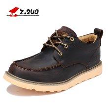 Z.Suo/走索男鞋工裝鞋男休閑皮鞋大頭鞋子英倫男士休閑鞋男 ZS808
