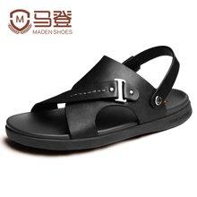 马登男士凉鞋夏季沙滩鞋男皮凉鞋露趾男休闲凉鞋男潮男鞋子潮 1404016