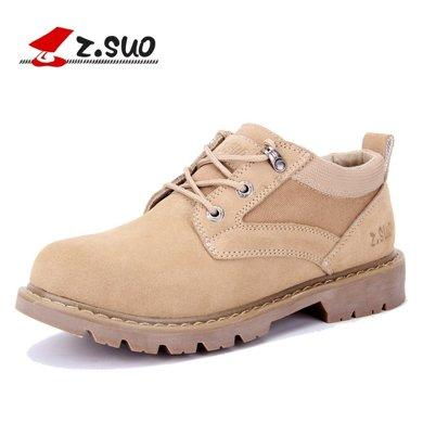 Z.Suo/走索男鞋休閑鞋大碼工裝鞋男鞋子大頭鞋男英倫復古潮鞋男 ZS159