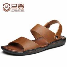 马登男凉鞋男士凉鞋男鞋夏季皮凉鞋男休闲鞋防滑沙滩鞋潮 1601073