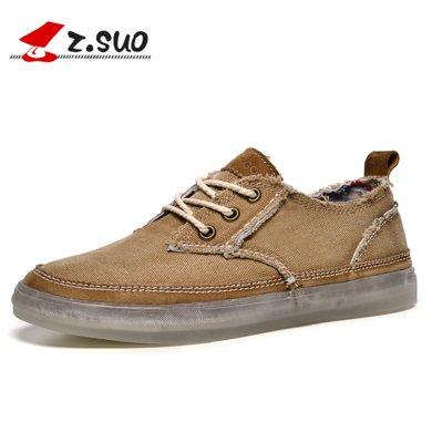 Z.Suo/走索男鞋英倫板鞋低幫鞋帆布鞋男士休閑鞋男透氣 ZS16106