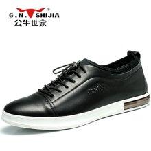 公牛世家男鞋潮鞋低帮男士休闲皮鞋百搭板鞋韩版鞋子 888327