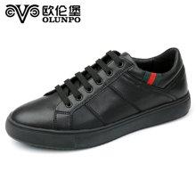 Olunpo/欧伦堡春季新款时尚英伦休闲鞋 潮流低帮板鞋小白鞋 CMB1702