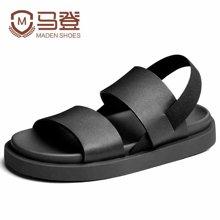 马登凉鞋男夏潮沙滩鞋韩版青年男士凉鞋休闲鞋防滑皮凉鞋 1701173