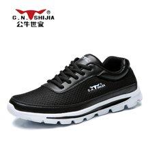 公牛世家男鞋男士休闲鞋运动鞋韩版百搭透气跑步鞋网鞋潮鞋子 888421