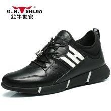 公牛世家男鞋潮鞋舒适时尚运动鞋男跑步鞋男士休闲鞋 888323