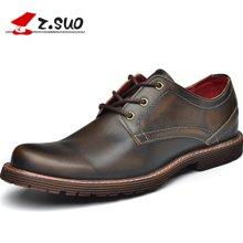 Z.Suo/走索男鞋时尚英伦工装鞋男士休闲鞋系带低帮鞋休闲皮鞋潮 ZS2311