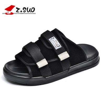 Z.Suo/走索男鞋夏季拖鞋男士一字拖潮流涼拖涼鞋男鞋子沙灘鞋 ZS18600