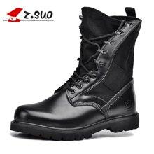 Z.Suo/走索男鞋马丁靴男户外靴子沙漠靴男军靴皮靴情侣款潮 ZS988H