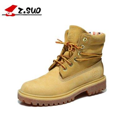 Z.Suo/走索加绒女靴保暖马丁靴女士休闲鞋时尚英伦女靴潮 1206M