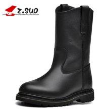 Z.Suo/走索马丁靴男士骑士靴子男机车靴潮流皮靴情侣靴 16009