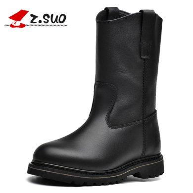 Z.Suo/走索馬丁靴男士騎士靴子男機車靴潮流皮靴情侶靴 16009