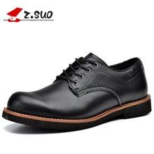 Z.Suo/走索男鞋馬丁鞋男工裝鞋潮流休閑皮鞋男低幫鞋子系帶 ZS16702