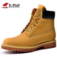 Z.Suo/走索女鞋馬丁靴女白色靴子潮流工裝靴情侶靴軍靴中筒機車短靴女 10061N