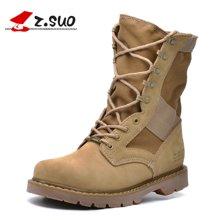 Z.Suo/走索女鞋沙漠靴女馬丁靴潮流靴子戶外系帶女靴情侶款 ZS988N