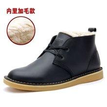 Z.Suo/走索加绒板鞋时尚马丁靴男士休闲短靴大码工装靴潮男鞋 ZS061M