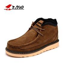 Z.Suo/走索男士雪地靴男冬季棉鞋英伦加绒情侣鞋保暖男鞋潮板鞋 ZS020M