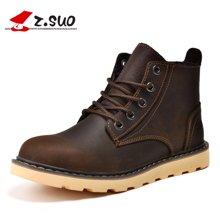 Z.Suo/走索男鞋马丁靴男英伦军靴子潮流工装短靴情侣靴子 ZS359N
