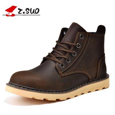 Z.Suo/走索男鞋馬丁靴男英倫軍靴子潮流工裝短靴情侶靴子 ZS359N