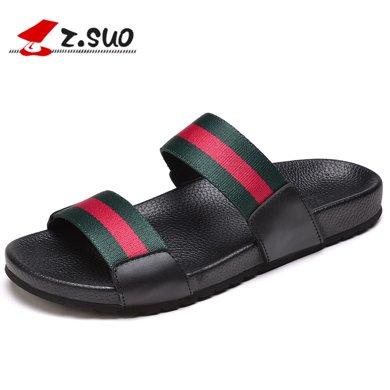 Z.Suo/走索男鞋拖鞋男一字拖韓版沙灘鞋防滑潮流個性男士拖鞋夏季男涼拖 ZS16518