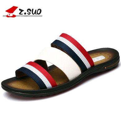 Z.Suo/走索男鞋一字拖鞋男夏季拖鞋男士休閑涼鞋韓版潮流涼拖沙灘鞋室外 ZS18805