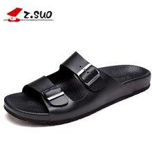 Z.Suo/走索男鞋凉拖鞋男夏季皮拖鞋男士凉拖休闲一字拖鞋沙滩鞋防滑 ZS16519