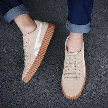 OKKO男鞋春秋季男士真皮休闲鞋系带皮鞋青年板鞋英伦鞋子复古潮鞋8761